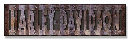 Harley-Davidson® Cut-Out Corrugated Wood/Metal Sign Hardboard CU107-COR-HD-HARL - Wisconsin Harley-Davidson