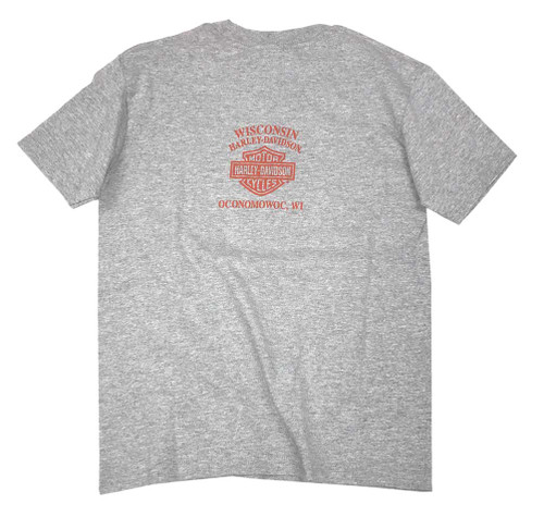 Harley-Davidson® Big Boy's History Rider Short Sleeve Tee, Steel Heather - Wisconsin Harley-Davidson