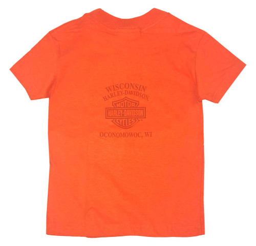 Harley-Davidson® Big Boy's Handcrafted Hog Short Sleeve Tee, Orange - Wisconsin Harley-Davidson