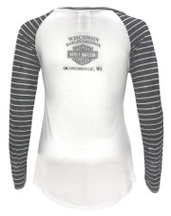 Harley-Davidson® Women's Incremental Delusions Long Sleeve Raglan Tee 5V34-HD0A - Wisconsin Harley-Davidson