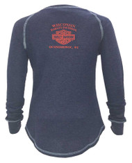 Harley-Davidson® Women's Lionize Style Long Sleeve Raglan Thermal Shirt 5N25-HD09 - Wisconsin Harley-Davidson