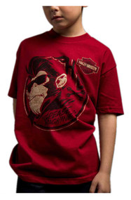 Harley-Davidson® Little Boy's Burnt Betegeuse Short Sleeve Tee, Dark Red - Wisconsin Harley-Davidson