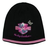Harley-Davidson® Little Girls' Floral Bar & Shield Knit Beanie Hat 7223669 - Wisconsin Harley-Davidson