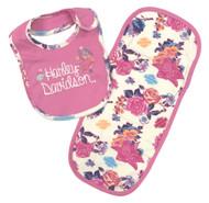 Harley-Davidson® Baby Girls' Glitter & Floral Bib/Burp Cloth Newborn Set 7003635 - Wisconsin Harley-Davidson