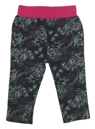 Harley-Davidson® Baby Girls' Stencil Floral Infant Leggings, Black 4014613 - Wisconsin Harley-Davidson