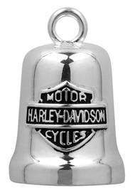 Harley-Davidson® Sculpted Engine Bar & Shield Ride Bell, Silver Finish HRB040 - Wisconsin Harley-Davidson