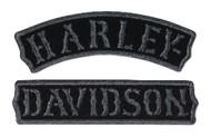 Harley-Davidson® Vintage Rocker H-D Emblem Patch, SM 4 x 2.375 inch EM251752 - Wisconsin Harley-Davidson
