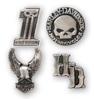 Harley-Davidson® Dark Custom 3D Die Cast Magnet Set, Set of 4, Silver DM25230 - Wisconsin Harley-Davidson