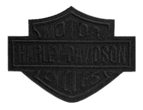 Harley-Davidson® Black Bar & Shield Emblem Patch, LG 8 x 6.25 inch EM302304 - Wisconsin Harley-Davidson