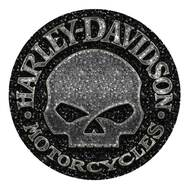 Harley-Davidson® Gravel Willie G Skull Round Mouse Pad, Black Neoprene MO104875 - Wisconsin Harley-Davidson