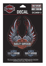 Harley-Davidson® Bliss Winged Bar & Shield Decals, SM 3.875 x 4.25 in DC245813 - Wisconsin Harley-Davidson