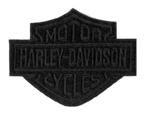 Harley-Davidson® Black Bar & Shield Emblem Patch, SM 4 x 3.125 inch EM302302 - Wisconsin Harley-Davidson