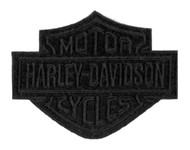 Harley-Davidson® Black Bar & Shield Emblem Patch, SM 4 x 3.125 inch EM302302 - Wisconsin Harley-Davidson