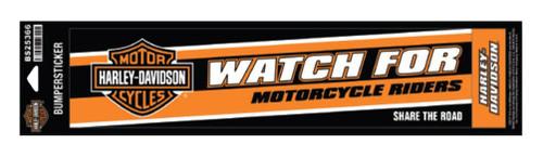 Harley-Davidson® Caution Riders Bumper Sticker, LG & SM, 12 x 3 inches BS25366 - Wisconsin Harley-Davidson