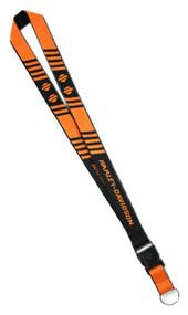 Harley-Davidson® H-D Break Striped Bar & Shield Lanyard, Orange & Black LY25766 - Wisconsin Harley-Davidson