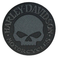 Harley-Davidson® Black Willie G Skull Emblem Patch, LG 8 x 8 inch EM1048804 - Wisconsin Harley-Davidson
