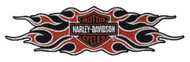 Harley-Davidson® Woven Flame Bar & Shield Emblem Patch, LG 9 x 2.25 in EM419664 - Wisconsin Harley-Davidson