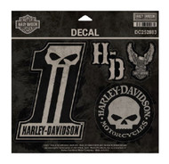 Harley-Davidson® Dark Custom Decals, MD 5 Per Sheet, 4 x 5.5 inches DC252883 - Wisconsin Harley-Davidson