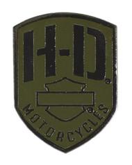 Harley-Davidson® 2D Die Cast H-D Badge Pin, Olive & Black Nickel Finish P475531 - Wisconsin Harley-Davidson