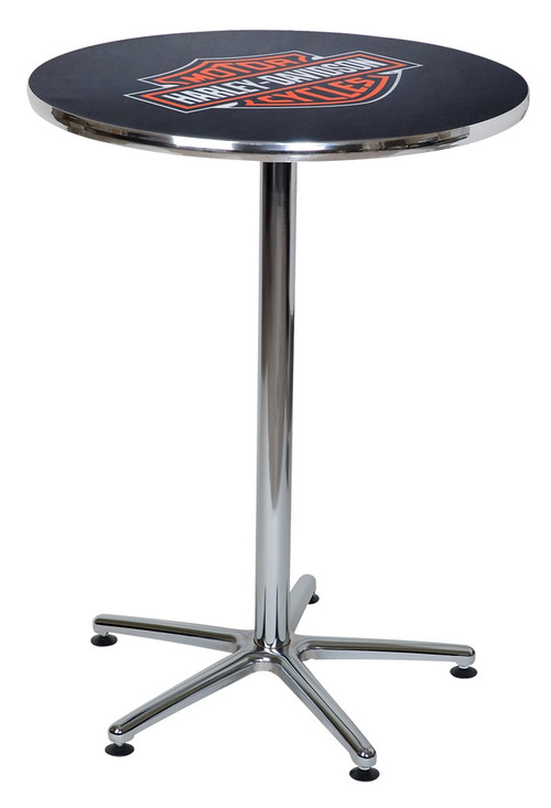 Harley-Davidson® Bar & Shield Logo Round Cafe Table, Durable & Chrome HDL-12314 - Wisconsin Harley-Davidson