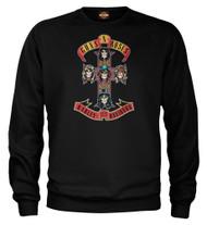 Harley-Davidson® Men's Guns N' Roses AFD Cross Pullover Sweatshirt, Solid Black - Wisconsin Harley-Davidson