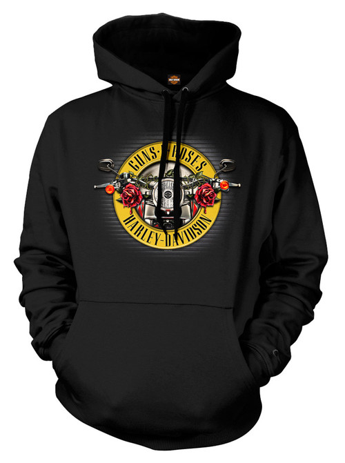 Davidson® Men's Guns N' Roses Cover Motorcycle Hooded Sweatshirt ...