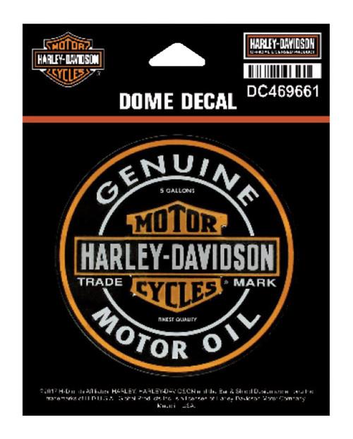 Harley-Davidson® Dome Motor Oil Bar & Shield Decal, XS 3.375 x 3.375 in DC469661 - Wisconsin Harley-Davidson