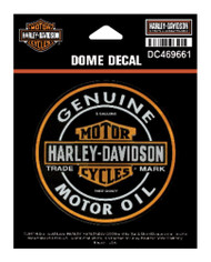 Harley-Davidson® Dome Motor Oil Bar & Shield Decal, XS 3.375 x 3.375 in DC469661 - Wisconsin Harley-Davidson
