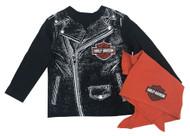 Harley-Davidson® Baby Boys' Biker Dude Tee & Doo Rag Infant Starter Kit 2563715 - Wisconsin Harley-Davidson