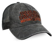 Harley-Davidson® Men's Embroidered H-D Baseball Cap, Distressed Charcoal BCC51681 - Wisconsin Harley-Davidson