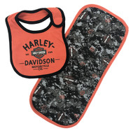 Harley-Davidson® Baby Boys' H-D Digital Camo Bib & Burp Cloth Newborn Set 7053707 - Wisconsin Harley-Davidson