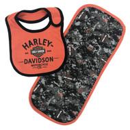 Harley-Davidson® Baby Boys' H-D Digital Camo Bib & Burp Cloth Newborn Set 7053707 - Wisconsin Harley-Davidson