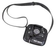 Harley-Davidson® Little Girls' PU Biker Jacket Style Crossbody Bag, Black 7130762 - Wisconsin Harley-Davidson