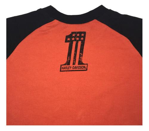 Harley-Davidson® Big Boys' Interlock Double Long Sleeve Shirt, Orange 1093755 - Wisconsin Harley-Davidson