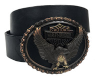 Harley-Davidson® Men's Genuine Vintage Glory Leather Belt Black, Brown HDMBT11042 - Wisconsin Harley-Davidson