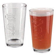 Harley-Davidson® H-D Embossed Bar & Shield Pint Glasses Set of 2, 16 oz HDL-18779 - Wisconsin Harley-Davidson