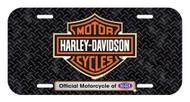 Harley-Davidson® Screamin' Eagle Diamond Plate License Plate, 6x12in HARLNV011000 - Wisconsin Harley-Davidson