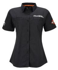 Harley-Davidson® Women's Screamin' Eagle Frontrunner Crew Shirt, Black HARLLW0012 - Wisconsin Harley-Davidson