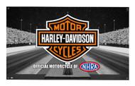 Harley-Davidson® Screamin' Eagle Drag Strip Banner, 3 x 5 ft. Black HARLNV010800 - Wisconsin Harley-Davidson