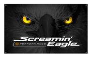 Harley-Davidson® Screamin' Eagle Glowing Eyes Banner, 3 x 5ft. Black HARLNV010700 - Wisconsin Harley-Davidson