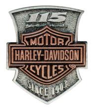Harley-Davidson® 115th Anniversary 2D Die Struck Pin, Limited Edition P260232 - Wisconsin Harley-Davidson