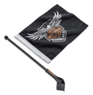 Harley-Davidson® 115th Anniversary Flag Kit, Tour-Pak & Saddlebag Mount 61400522 - Wisconsin Harley-Davidson