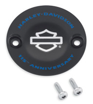 Harley-Davidson® 115th Anniversary Timer Cover, Fits Touring Models 25600105 - Wisconsin Harley-Davidson