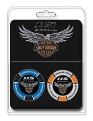 Harley-Davidson® 115th Anniversary Collector's Poker Chip Packs, Blue & Gray 671 - Wisconsin Harley-Davidson