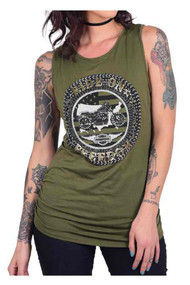 Harley-Davidson® Women's Ride On Freedom Embellished Sleeveless Scoop Neck Tank - Wisconsin Harley-Davidson