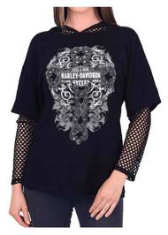 Harley-Davidson® Women's Ride Ritual Embellished Crew Neck Long Sleeve Shirt - Wisconsin Harley-Davidson