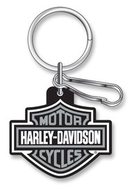 Harley-Davidson® Classic Bar & Shield Key Chain with Key Ring & Clip, Gray 4496 - Wisconsin Harley-Davidson
