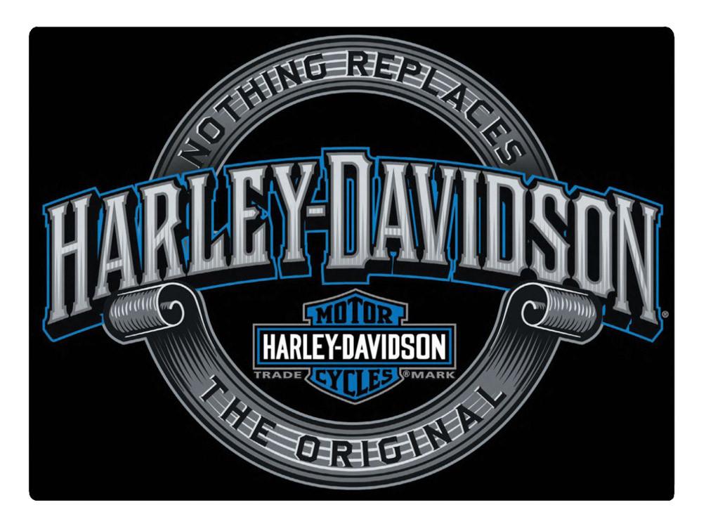 harley davidson irreplaceable h d embossed tin sign 17 x. Black Bedroom Furniture Sets. Home Design Ideas