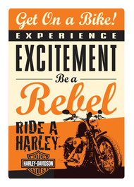 Harley-Davidson® Get on a Bike Rebel Embossed Tin Sign, 10.5 x 15 inches 2010411 - Wisconsin Harley-Davidson