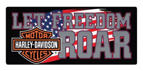 Harley-Davidson® Freedom Roar B&S Embossed Tin Sign, 18 x 8 inches 2010791 - Wisconsin Harley-Davidson